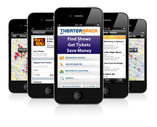 TheaterMania iPhone App Photos