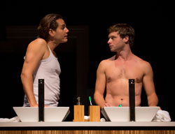 Paul Anthony Stewart and Bobby Steggert in <i>Harbor</i>