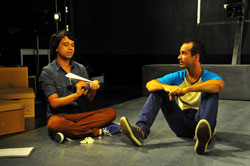 Debargo Sanyal and Alejandro Rodriguez in <i>Bird in the Hand</i>