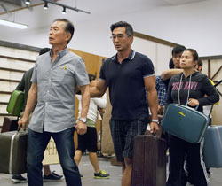 George Takei, Paul Nakauchi, Telly Leung and Lea Salonga in rehearsal for <i>Allegiance</i>