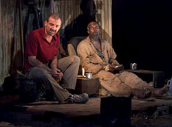 Ritchie Coster and Leon Addison Brown in <i>The Train Driver</i>