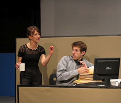 Susan Louise O'Connor and Rowan Michael Meyer in <i>The Why Overhead</i>