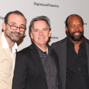Jessica Chastain, Bill Heck, Lorenzo Pisoni at Signature Theatre's Train Driver Opening