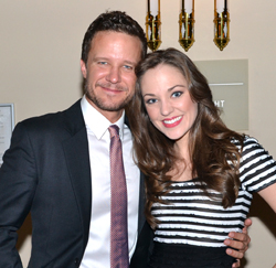 Will Chase and Laura Osnes, who will perform on Monday, October 1.