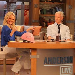 Kristin Chenoweth and Anderson Cooper on <i>Anderson Live</i>