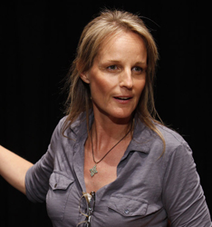 Helen Hunt as the Stage Manager in <i>Our Town</i>