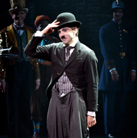 Rob McClure as Charlie Chaplin on Opening Night at the Barrymore Theatre