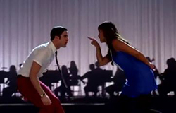 <i>Glee</i> stars Darren Criss and Jenna Ushkowitz