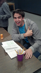 Timothy at the <i>August: Osage County</i> table reading