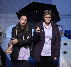Katie Tumelty and Tara Lynne O'Neill in <i>Fly Me to the Moon</i>