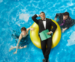 <i>Episodes</i> stars Tamsin Greig, Matt LeBlanc, and Stephen Mangan