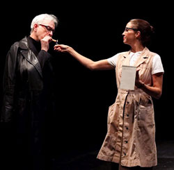 Philip Goodwin and Holly Twyford in <i>Sounding Beckett</i>