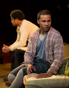 Brandon J. Dirden and Jason Dirden in <i>Topdog/Underdog</i>