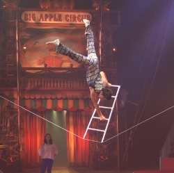 Chinese slack wire performer Zhang Fan