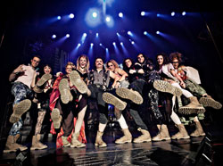 <i>Rock of Ages</i> cast members in a promotional photo for The Boot Campaign