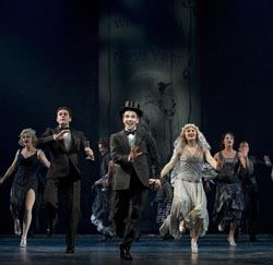 Rob McClure and the company of <I>Chaplin</i>