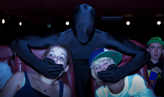 Volunteer Cinema Ninjas take charge in curbing bad behavior in London