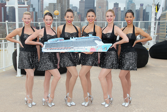 The Rockettes will serve as the Godmothers to the Norwegian Breakway, the largest ship to homeport year-round in New York, which will be christened on May 8, 2013.
