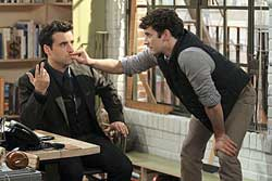 David Krumholtz and Michael Urie in <I>Partners</i>