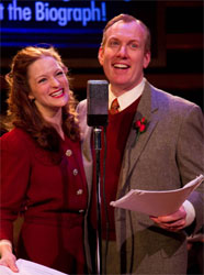 Gwendolyn Whiteside and Kevin R. Kelly in <i>It's a Wonderful Life: Live at the Biograph!</i>