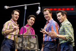 Matt Bogart, John Lloyd Young, Quinn VanAntwerp, and Andy Karl