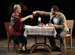 Kathleen Chalfant and Alfredo Narciso in <i>Red Dog Howls</i>