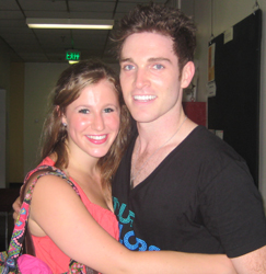 Me with Tyler Hanes, Atlanta Broadway Dreams Foundation Intensive, 2011