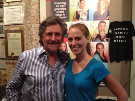 Gabriel Byrne and Elizabeth Van Meter