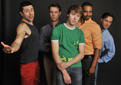 <i>It Gets Better</i> actors Sacha Sacket, Jason Currie, Tyler Houston, Mario Mosley, and Tod Macofsky