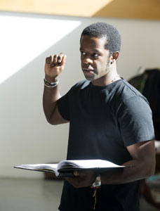 Adrian Lester in rehearsal for <i>Red Velvet</i>