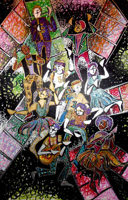 Illustration of <i>Godspell</i>