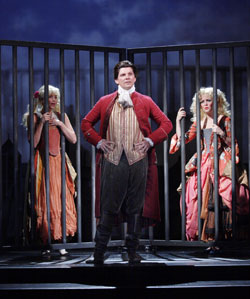 Jessica Elleby, Nigel Harman, and Ashley Jensen in <i>A Chorus of Disapproval</i>