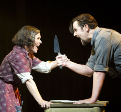 Imelda Staunton and Michael Ball in <i>Sweeney Todd</i>