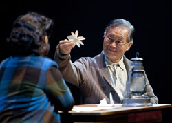 Lea Salonga and George Takei in <i>Allegiance</i>
