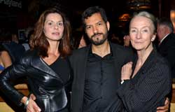 Florencia Lozano, Alfredo Narciso, and Kathleen Chalfant at the opening of <I>Red Dog Howls</i>