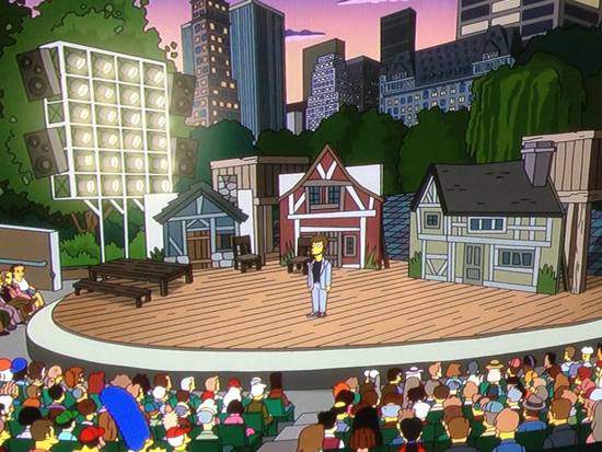 The Delacorte Theater as seen on <i>The Simpsons</i>
