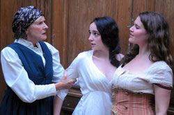 Joy Franz, Leanne Agmon, and Molly Stoller in <i>God of Vengeance</i>