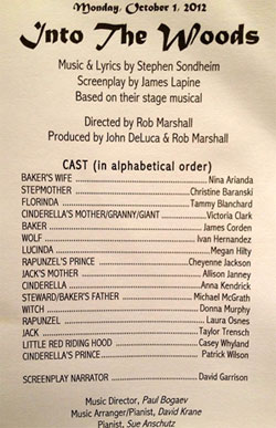 Could this be the cast for the &lt;i&gt;Into the Woods&lt;/i&gt; movie?
