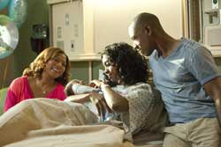 Queen Latifah, Condola Rashad, and Tory Kittles in <I>Steel Magnolias</i>