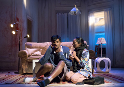 Utkarsh Ambudkar and Nitya Vidyasagar in <i>Modern Terrorism</i>