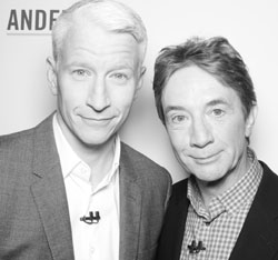 Anderson Cooper and Martin Short