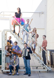 Cast photo of <i>The Verona Project</i> courtesy of the American Music Theatre Project
