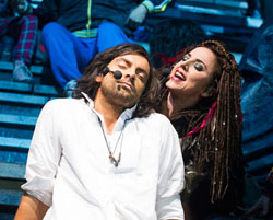 Ben Forster and Melanie Chisholm in <i>Jesus Christ Superstar</i>