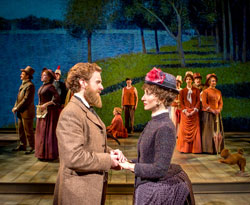 Jason Danieley, Carmen Cusack and company in <i>Sunday in the Park with George</i>