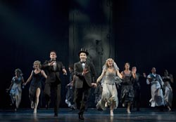 Rob McClure and the cast of <i>Chaplin</i>