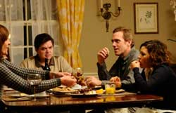 Allison Janney, Oliver Platt, Hugh Laurie, and Alia Shawkat in <I>The Oranges</i>