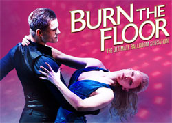 Promotional art for &lt;i&gt;Burn the Floor&lt;/i&gt;