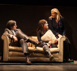 Gareth Saxe, Madeleine Martin, and Mary McCann in <i>Harper Regan</i>