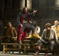 Douglas Hodge (center) and company in <i>Cyrano de Bergerac</i>