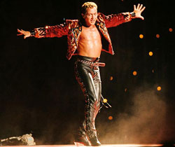 Michael Flatley in a publicity image for <i>Lord of the Dance</i>